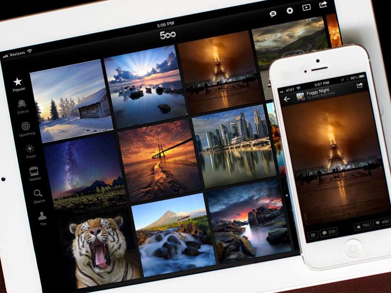 ۵۰۰PX: حرفه ای تر از اینستاگرام و مخصوص عکاسان