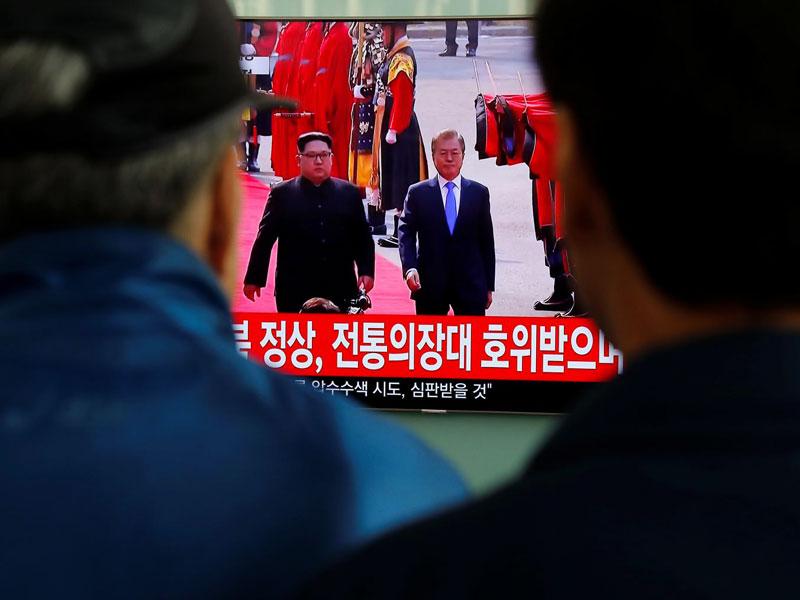 عکس روز: دیدار تاریخی رهبران دو کره