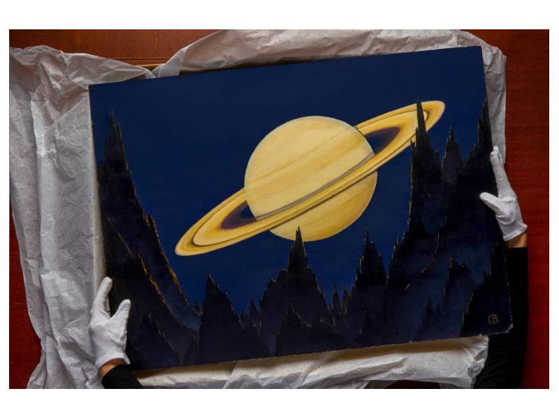 نقاشیهای چارلز بیتینگر از فضا