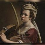 آرتیمیسیا جنتیلسکی – سلف پرتره به عنوان سنت کاترین الکساندریا