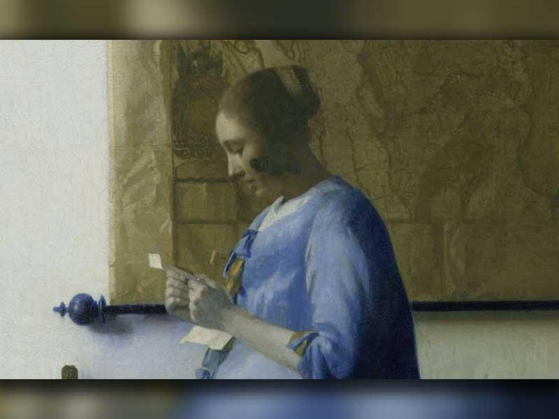 یوهانس ورمیر- یک زن درحال نامه خواندن