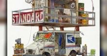 نقاشیهای آبرنگ از ساختمانهای تخیلی